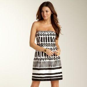 LBD Laundry | White Cotton Tribal Print Dress